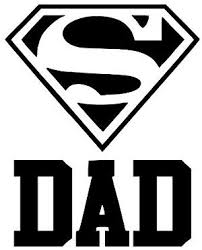 Amazon Com Super Dad Father Black Vinyl Decal Bumper Computer Sticker Cling Everything Else