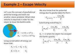 escape velocity equation example