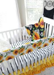 nursery bedding in yellow green black