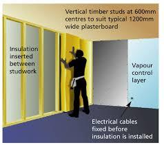 install an insulation vapour barrier