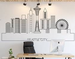 Seattle Wall Decal Etsy