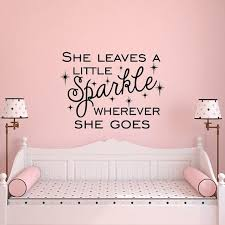Wall Decal Quote For Kids She Leaves A Little Sparkle Wherever Etsy Girls Wall Decals Girls Room Decals Nursery Wall Decals