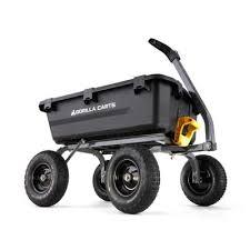 4 cu ft poly garden dump cart gcg