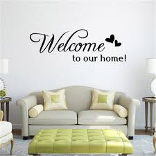 Big Offer 23d180 Welcome To Our Home Quote Wall Sticker Home Decor Living Room Bedroom Vinyl Wall Decals Family Quotes Sayings Stickers Muraux Cicig Co