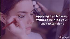 applying eye makeup without ruining