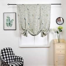 Kitchen Short Curtains Bird Print Roman Blinds Polyester Fabric Rod Style Kids Bedroom Window Door Treatments Jinya Home Decor Curtains Aliexpress