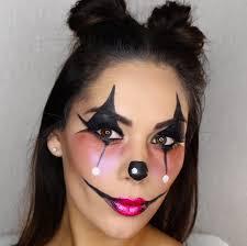 cute clown halloween makeup look