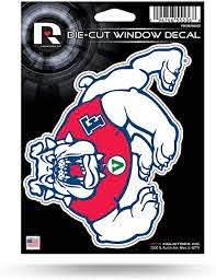 Amazon Com Ncaa Rico Industries Die Cut Vinyl Decal Fresno State Bulldogs Automotive Decals Sports Outdoors