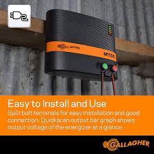 Amazon Com Gallagher M1100 Electric Fence Charger Powers Up To 110 Miles 650 Acres Of Clean Fence 11 Joules 110 Volt Energizer Added Power Reserve Unbeatable Reliability Easy Installation Industrial Scientific