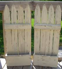 What Do You Get When You Recycle Old Fence Panels Faux Flower Planters Made Entirely From Recycled Materials All Picket Fence Crafts Fence Decor Old Fences