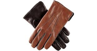 and black leather gloves