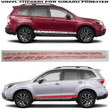 Graphics Racing Sticker Car Side Vinyl Stripes Fit Subaru Forester