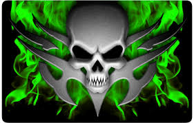 cool green skull wallpapers
