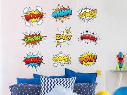 Comic Book Wall Decals Superhero Wall Decal Nursery Wall Etsy