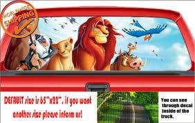 W689 Simba Lion King Disney Wrap Wall Rear Window Perforated Car Decal Sticker For Sale Online Ebay