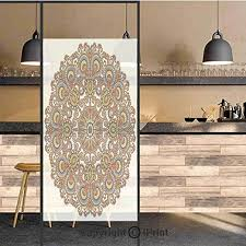 Amazon Com 3d Decorative Privacy Window Films Indian Ethnic Circle Lace Mandala Motif Ornamental Art Pattern Center Point Design No Glue Self Static Cling Glass Film For Home Bedroom Bathroom Kitchen Office 17 5 Home Kitchen