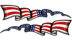Waving American Flag Stripes Pairs Nostalgia Decals Vinyl Auto Stickers Nostalgia Decals Online