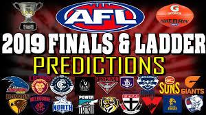 My 2019 AFL Ladder & Finals Predictions ...