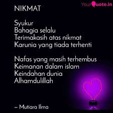 nikmat syukur bahagia se quotes writings by lin na yourquote