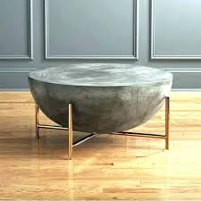 round concrete dining table round
