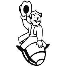 Fallout Vault Boy W Et Decal Sticker