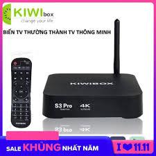 Giảm 49 %】 Android tv box m80 , Android box fpt - Android tv box, KIWIBOX S3  PRO biến Tivi thường thành Tivi thông minh, khuyến mại khủng hôm nay S371 -