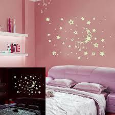 Night Starry Sky Moon Stars Diy Glow In The Dark Luminous Stickers Kids Room Wall Decor Decals For Kids Baby S Bedroom Living Room Walmart Com Walmart Com