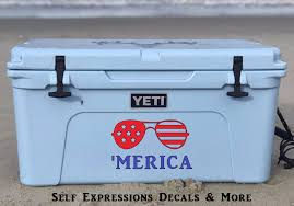 Pin By Ginny On Self Expressions Custom Decals Shirts More Yeti Cooler Stickers Yeti Cooler Cooler Monogram