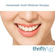 homemade tooth whitener recipes