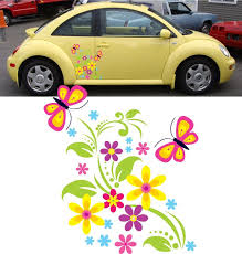 Car Decals Flowers Google Search Beetle Car Car Decals Car