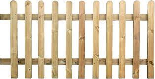 Pressure Round Top Treated Wooden Picket Fence Panel 6ft Sections 2ft 03 Amazon Co Uk Garden Outdoors