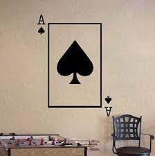 Amazon Com Ace Of Spades Playing Card Poker Blackjack Vinyl Wall Sticker Decal Handmade