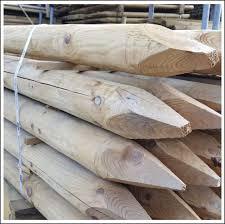 Wooden Round Fence Posts 1 65m X 7 5cm Ernest Doe Shop