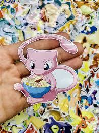 Mew Eating Ramen Pokemon Custom Vinyl Sticker Die Cut Decal Etsy