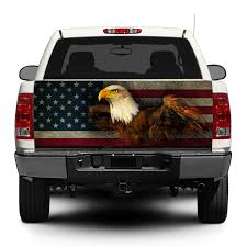 Product American Eagle Usa Flag Tailgate Decal Sticker Wrap Pick Up Truck Suv Car