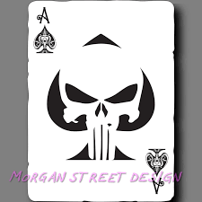 Punisher Ace Of Spades Playing Card Phone Car Yeti Decal Sticker For Sale Online