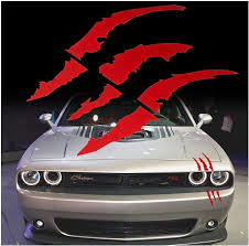 Amazon Com Red Monster Claws Scratch Headlight Decal Die Cut Vinyl Sticker For Halloween Blood Red Home Kitchen