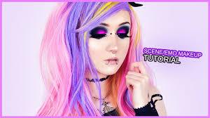 black pink smokey cat eye makeup