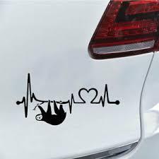 Cw Kf Funny Sloth Heartbeat Car Truck Vehicle Reflective Sticker Decal Decorat Ebay