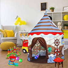 Amazon Com Ysh Home Boys Toys Play Tent For Kids Playhouse Girls Pop Up Castle Tents Indoor Outdoor Pirates Gifts For Children Toys Games