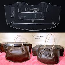 diy leather bag design template