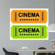 Cinema Ticket Wall Decal Wallmonkeys Com