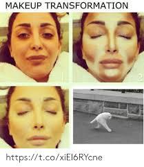 best memes about makeup transformation