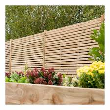 Forest Garden Pressure Treated Contemporary Double Slatted Fence Panel 1 8m X 1 8m Wilko