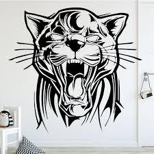 Huge Tiger Wall Art Sticker Vinyl Bedroom Decal Lounge