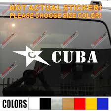 Cuba Flag Star Army Military Car Decal Bumper Sticker Pick Size Color Die Cut No Background Car Stickers Aliexpress
