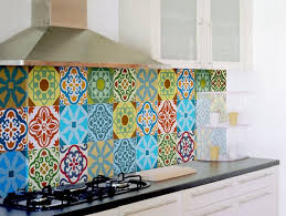 Tile Decals Set Of 15 Tile Stickers For Kitchen Backsplash Tiles Colorful Moroccan Tiles Vintage Style Vi Kitchen Tiles Backsplash Tile Decals Vinyl Backsplash