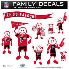 Atlanta Falcons Family Decal Set Large
