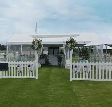 White Picket Fence Arbor Cq Party Hire