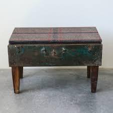 repurposed metal suitcase table